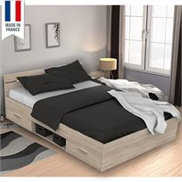 מיטה זוגית הכוללת מגירות ותאי אחסון דגם MICHIGAN