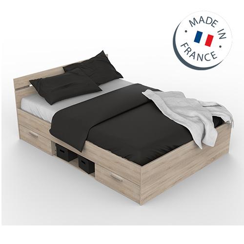 מיטה זוגית עם מגירות ותא אחסון תוצרת צרפת דגם מישיגן HOME DECOR - תמונה 2