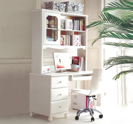 ספריה מעץ מלא בשילוב MDF בעיצוב חדשני כולל כסא איכותי מתנה