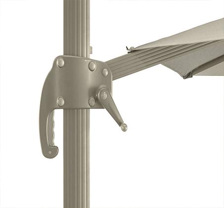 שמשייה בגודל 3X3 מטר מסתובבת עם רגל צד מאלומיניום - תמונה 5