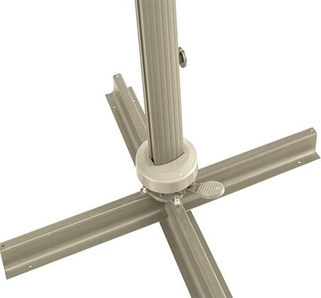 שמשייה בגודל 3X3 מטר מסתובבת עם רגל צד מאלומיניום - תמונה 6