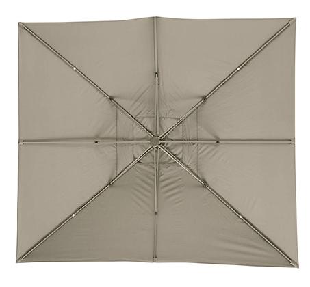 שמשייה בגודל 3X3 מטר מסתובבת עם רגל צד מאלומיניום - תמונה 4