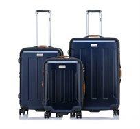 סט 3 מזוודות בגדלים שונים JEEP MIAMI בצבע כחול
