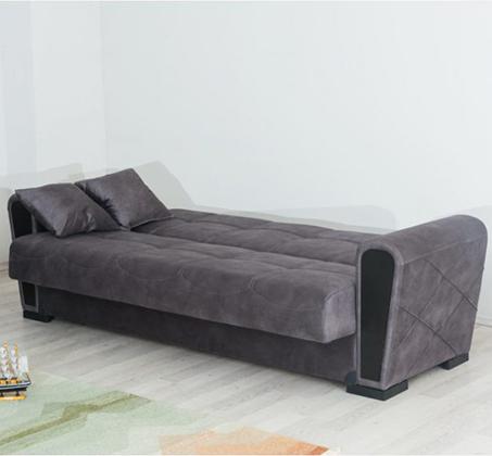 ספה תלת מושבית מרופדת מפנקת ונוחה עם ארגז מצעים דגם INKI מבית SIRS - תמונה 2