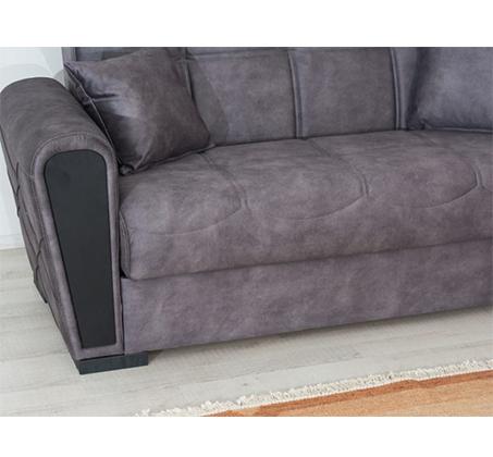 ספה תלת מושבית מרופדת מפנקת ונוחה עם ארגז מצעים דגם INKI מבית SIRS - תמונה 3