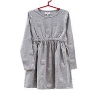 שמלה OVS סטרצ'ית עם נקודות POLKA נוצצות לילדות - אפור