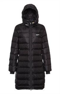 Blundstone - מעיל פוך בלנסטון נשים ארוך עד הברך בצבע שחור