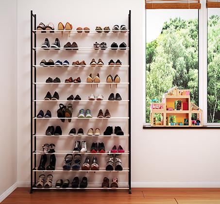 ארון מודולרי בעל 10 מדפים לאיחסון עד כ-50 זוגות נעלים RAZCO בשני דגמים לבחירה - תמונה 2