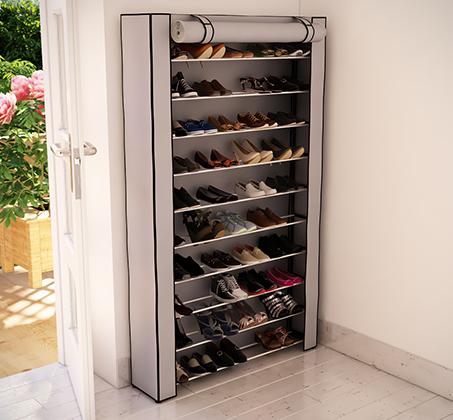 ארון מודולרי בעל 10 מדפים לאיחסון עד כ-50 זוגות נעלים RAZCO בשני דגמים לבחירה - תמונה 3