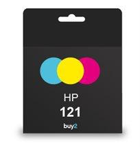 מדפיסים בצבעים! ראש דיו תואם HP 121 צבעוני, דיו איכותי למדפסת