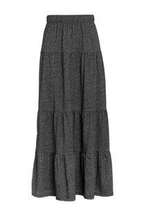 חצאית מקסי מלאנג' במראה קומות