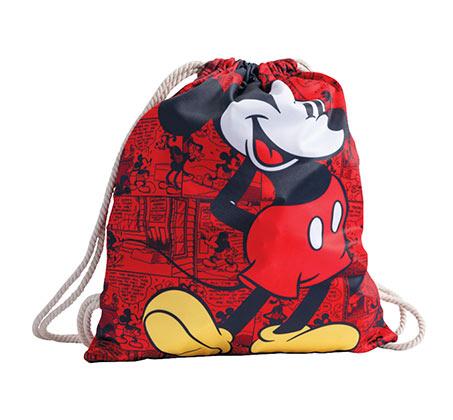 תיק שרוך מיקי מאוס לילדים - אדום + כובע מתנה