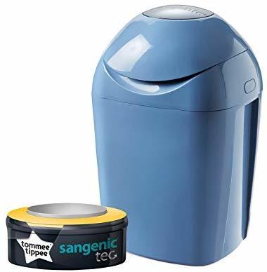 פח לחיתולים סאנג'ניק Sangenic Tec + מחסנית מילוי ל 120 חיתולים - כחול