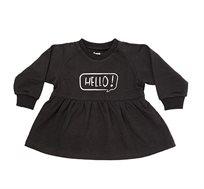 שמלת פוטר פפלום הלו! בצבע שחור
