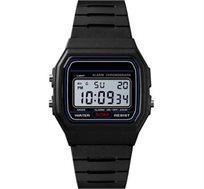 שעון יד דיגטלי אופנתי לגברים כולל תאריכון, תאורה אחורית ושעון מעורר דגם SKMEI 1412 בצבע שחור