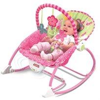 טרמפולינה לתינוק עם כיסא נדנדה 3 ב 1 - נסיכה ורודה