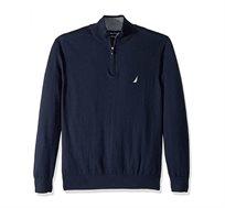 סוודר לגבר עם צווארון גבוה ולוגו קטן NAUTICA דגם S831044NV בצבע כחול נייבי