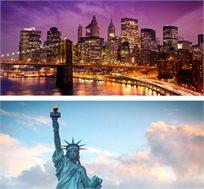 10 ימים בניו יורק, כולל טיסות, מלון, טיול מאורגן למפלי הניאגרה, וושינגטון וקנדה רק בכ-$2222*
