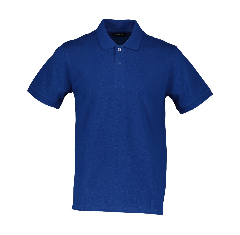 חולצת פולו פיקה חלק Offset לגברים - צבע לבחירה