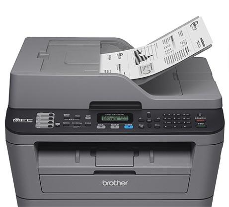מדפסת משולבת  BROTHER דגם MFC-L2710DN הכוללת מדפסת לייזר איכותית מכונת צילום מסמכים וסורק - משלוח חינם - תמונה 3