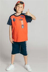 חליפת פרנץ' טרי Kiwi לילדים בצבע אדום