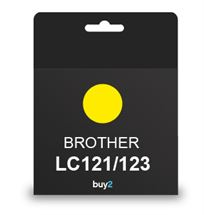 על איכות לא מתפשרים! ראש דיו תואם BROTHER LC121/123 צבע צהוב, דיו איכותי למדפסת