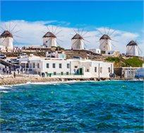 טיסות הלוך וחזור לאי היווני היפהפה מיקונוס ל-3-7 לילות ביוני-יולי החל מכ-$399*