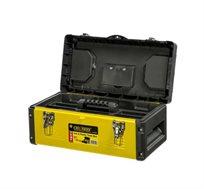 """ארגז כלים """"19 CROWNMAN בעל מחיצת פלסטיק נשלפת לשמירה על הכלים דגם 0018029"""