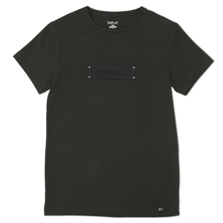 Replay גברים//Crew Neck T Shirt Olive