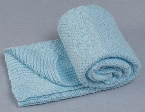 שמיכת קיץ / מעבר מצמר אוורירי 100% כותנה Capelli - כחול - תמונה 3