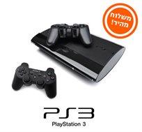 Sony PlayStation3 גרסת Super Slim כולל 2 בקרים אלחוטיים ו-3 שנות אחריות!