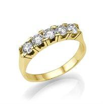 """טבעת יהלומים """"היילי"""" 1 קראט בעיצוב קלאסי"""