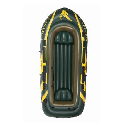סירת גומי מתנפחת דגם SeaHawk INTEX 68351 ל-4 אנשים הכוללת זוג משוטים ומשאבה  - תמונה 2