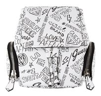 GUESS נשים// SALLY SMALL BACKPACK GRAFFITI