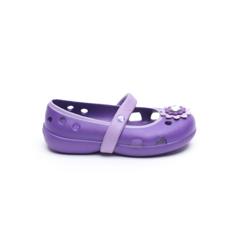 e2d8a4900 Crocs keeley petal charm flat - נעלי בובה קרוקס לילדות בצבע סגול