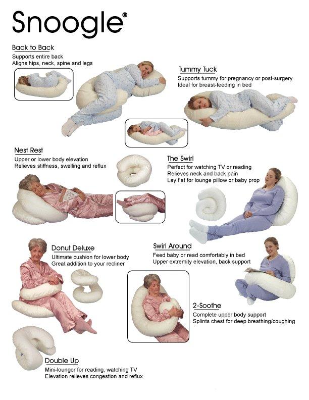 לפינוק מושלם ונוחות מירבית! כרית SNOOGLE רב שימושית, אידיאלית להנקה, מנוחה,  ישיבה ועוד